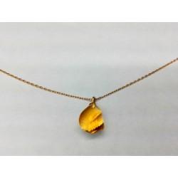 Collier or jaune avec Citrine briolette