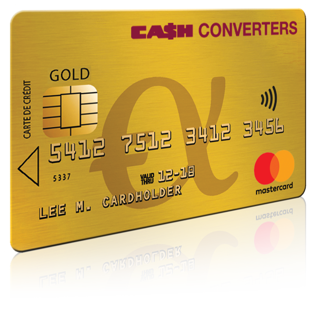 image carte gold mastercard cash converters