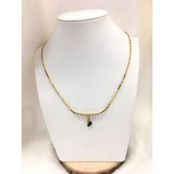 Collier or jaune Diamant et Saphir