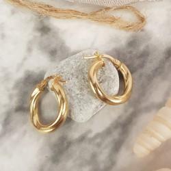 Boucles d'oreille Créoles en Or jaune