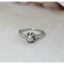 Bague en Or blanc avec Diamant