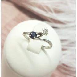 Bague toi et moi Diamant Saphir