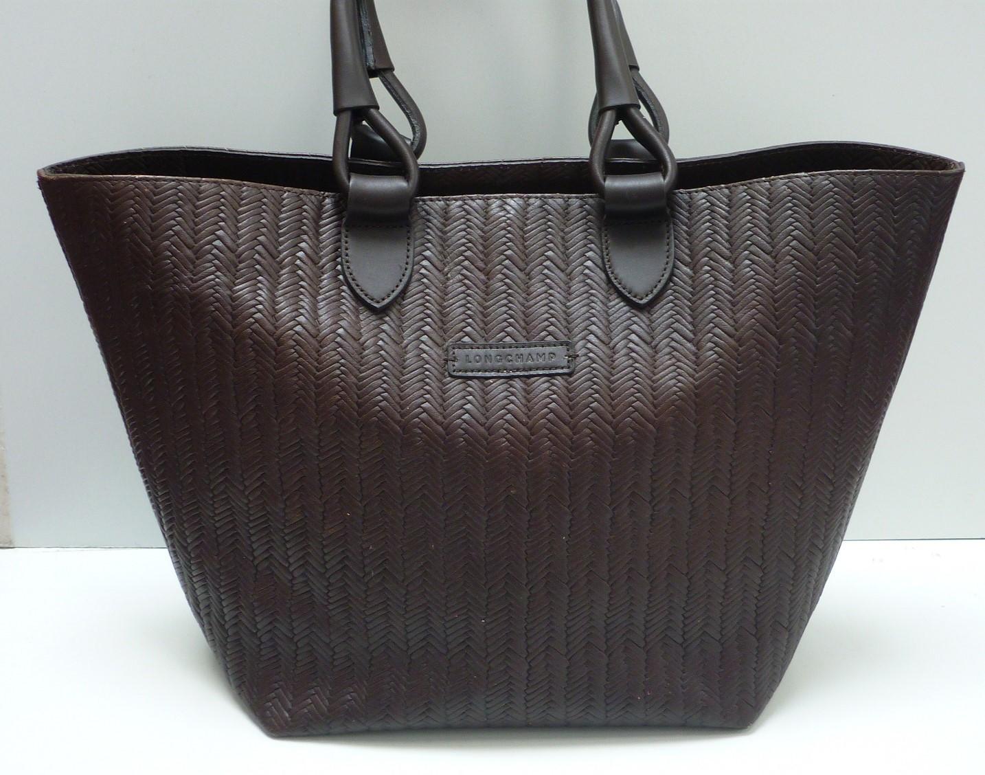 1786e62082 sac cabas lonchamps cuir marron
