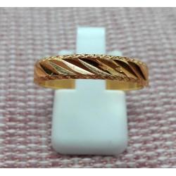 Bague anneau strié