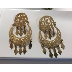 Boucles d'oreille pendantes en or