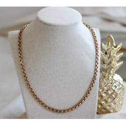 Collier Or jaune Maille carrée