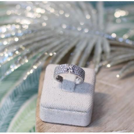 Bague or Blanc et Diamants
