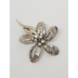 Broche ancienne Or blanc et Diamants