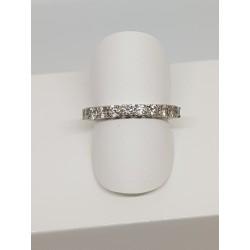 Demi alliance Or gris et Diamants