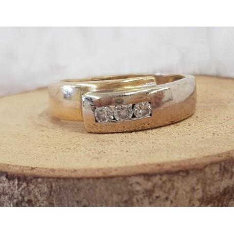Bague 2 or et diamants