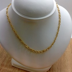 Collier or jaune maille Marine