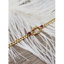 Bracelet or Jaune avec Diamants et rubis