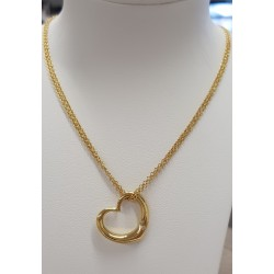 Collier Coeur or jaune