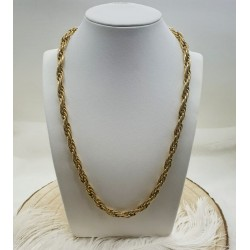 Collier maille corde