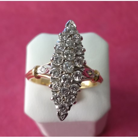 Marquise Diamant or jaune