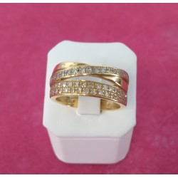 Bague pavage diamants