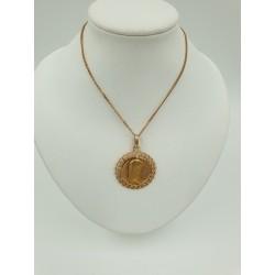 Chaine or Jaune et Médaille religieuse