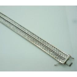 Bracelet Or blanc Ruban