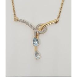 Collier Topaze et diamants