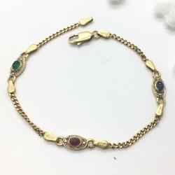 Bracelet or jaune et Pierres Précieuses