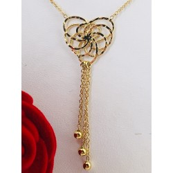 Collier coeur en or jaune