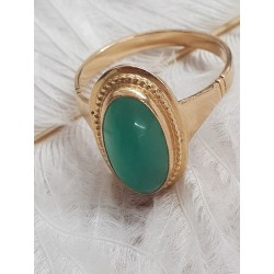 Bague or forme Marquise