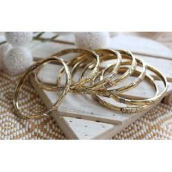 7 Bracelets Or jaune et blanc
