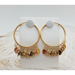 Boucles d'oreille pierres fines