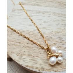 Collier Papillon perles