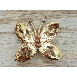Broche Papillon en or