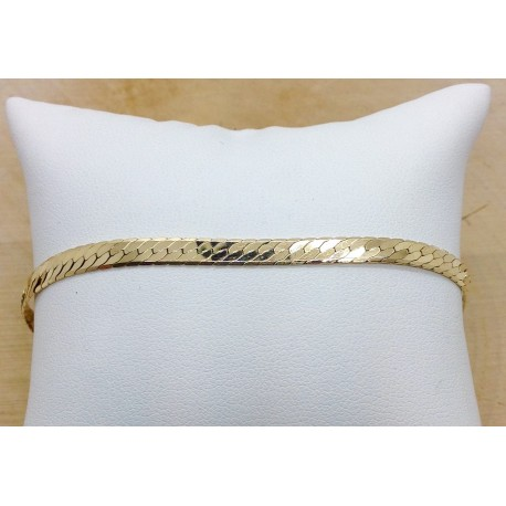 Bracelet maille Anglaise plate