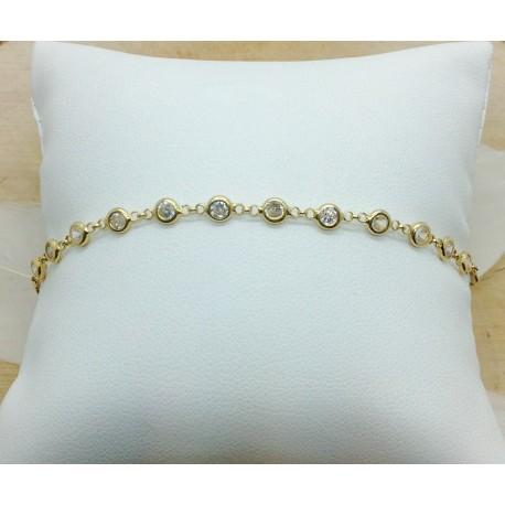 Bracelet or jaune et oxydes