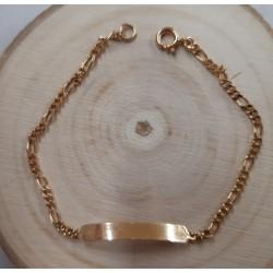Bracelet identité enfant en or