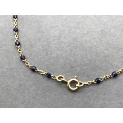 Bracelet or et pierres bleues