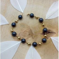 Bracelet Hématites et Or