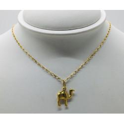 Chaine et pendentif Dromadaire Or