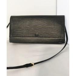 Pochette Louis Vuitton Cuir épi noir