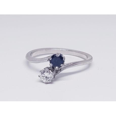 Bague Toi & Moi Saphir et Diamant