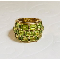 Bague Poiray Niris Or jaune, péridot et diamants