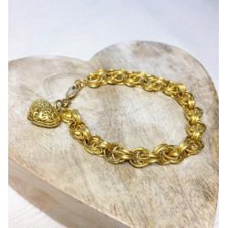 Bracelet avec Coeur en Or jaune