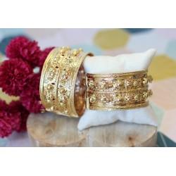 Bracelets joncs larges or