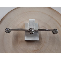 Broche or blanc et diamants