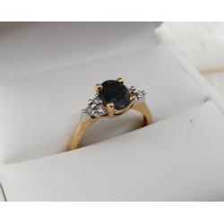 Bague Or Saphir et Diamants