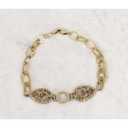 Bracelet en Or jaune avec Oxydes