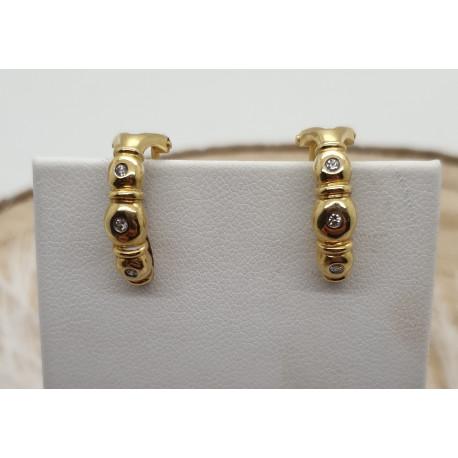 Boucles d'Oreilles Or et Diamants
