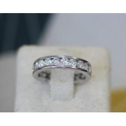 Alliance or blanc tour complet de diamant