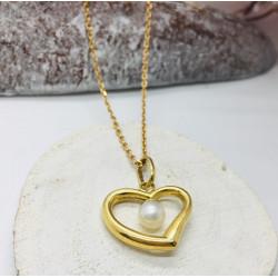 Collier chaine + Pendentif coeur