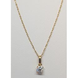 Chaine Or et Pendentif Diamant