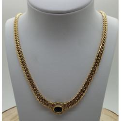 Collier Or Jaune Saphir et Diamants