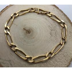 Bracelet Or Jaune Maille Cheval